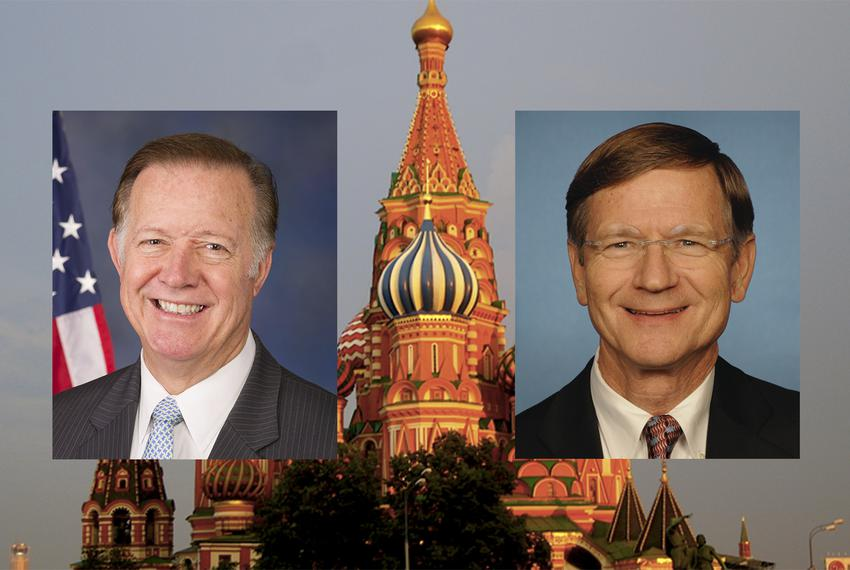 U.S. Reps. Randy Weber, R-Friendswood, left, and Lamar Smith, R-San Antonio.