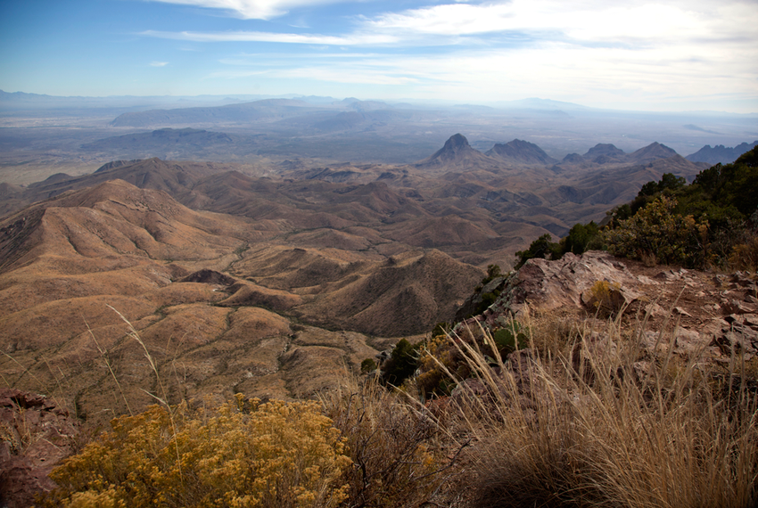 A view of northern Mexico from the South Rim of the Chisos Mountain in Big Bend National Park.