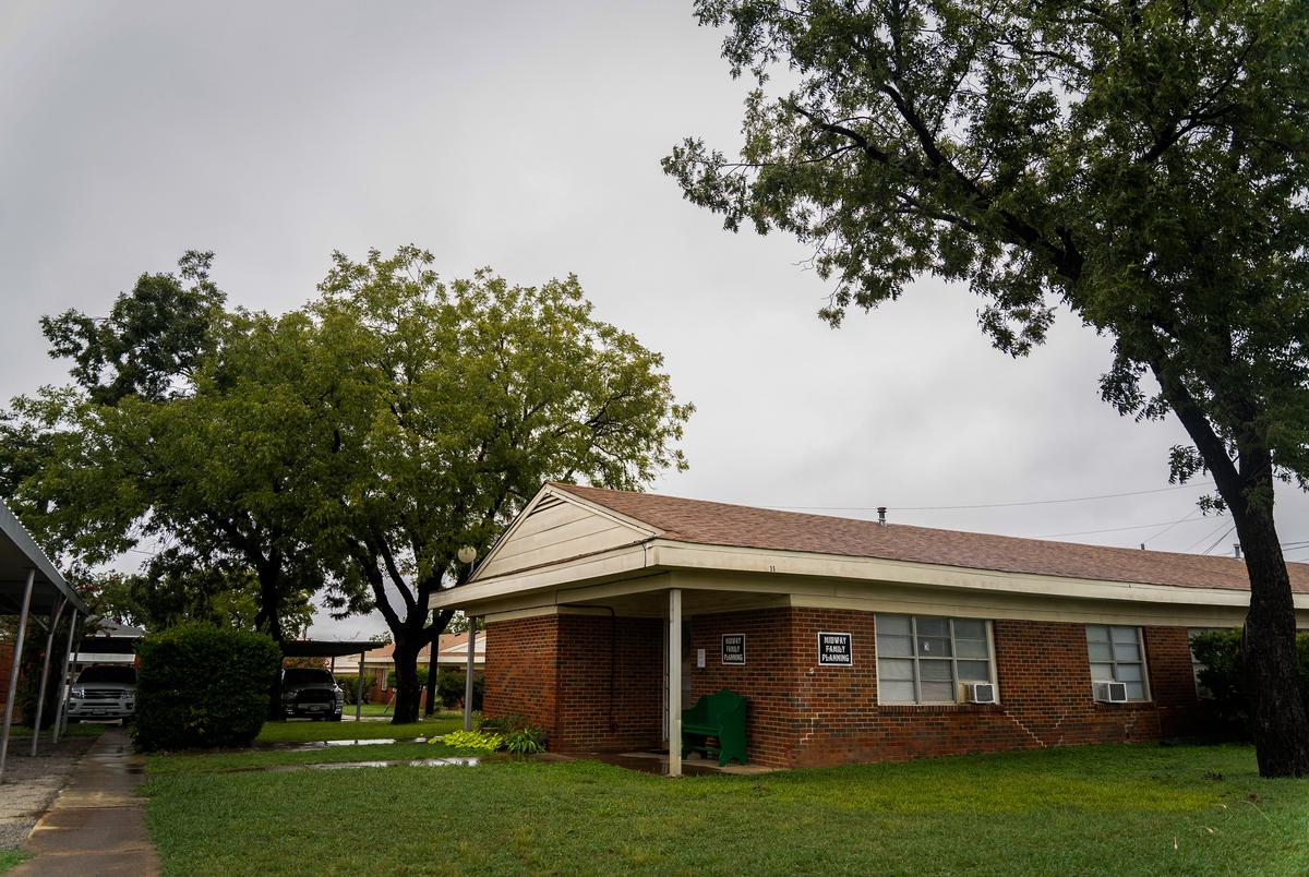 The Midway Family Planning clinic in Brownwood, which is located inside a federally funded public housing facility.
