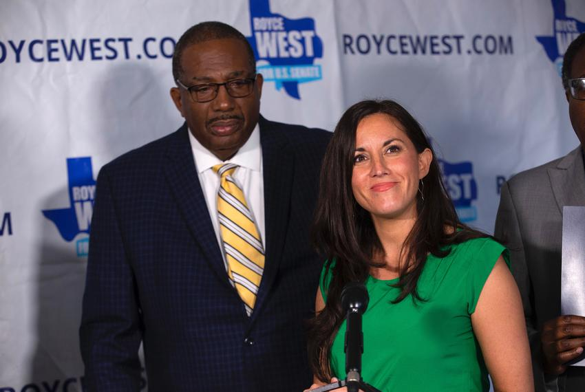 State Sen. Royce West, D-Dallas and Christina Tzintzún Ramirez. Tzintzún Ramirez, who narrowly missed the runoff in the De...