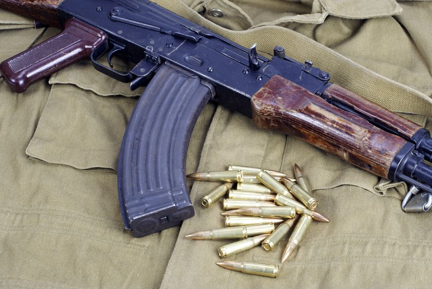 An AK-47 rifle.
