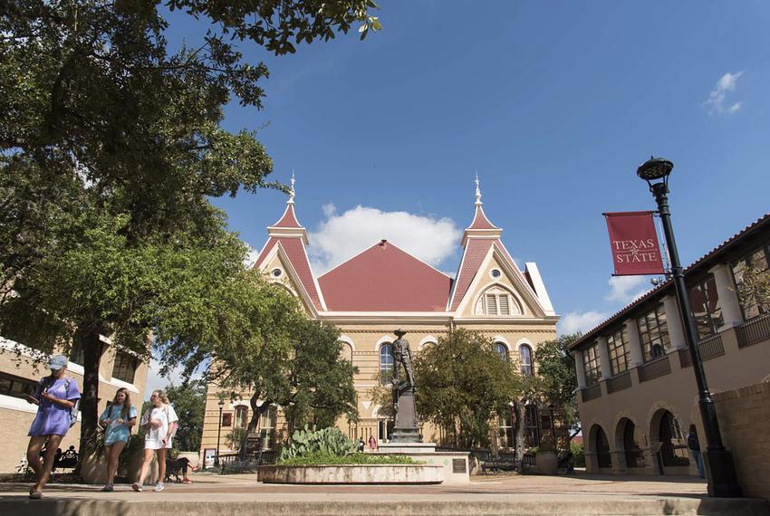 Texas State University campus in San Marcos.