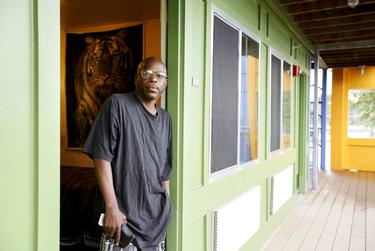Percy Lyons has lived in a permanent supportive housing unit in Houston for four years.