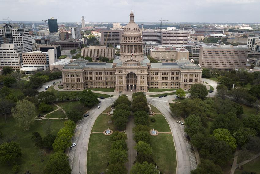 An aerial view of the Capitol during the coronavirus outbreak on March 23, 2020.