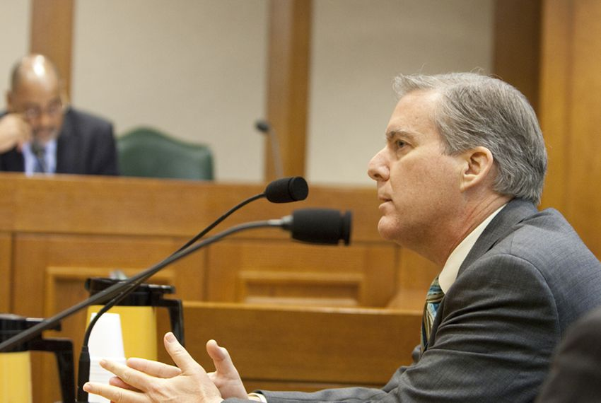 Williamson County DA John Bradley during his Senate Nomination Committee to the Forensic Science Committee. February 28th, 2011