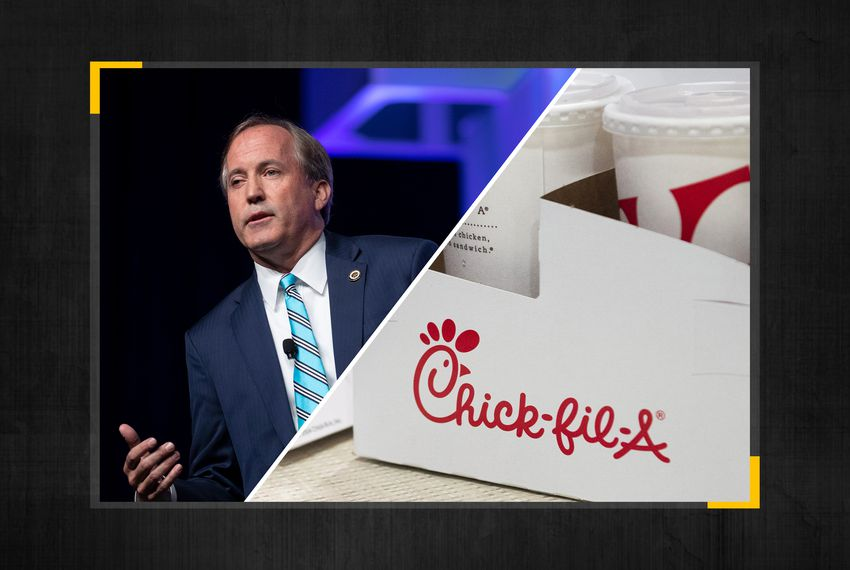 Texas Attorney General Ken Paxton Is Investigating San Antonio For Banning Chick-fil-A From Its Airport