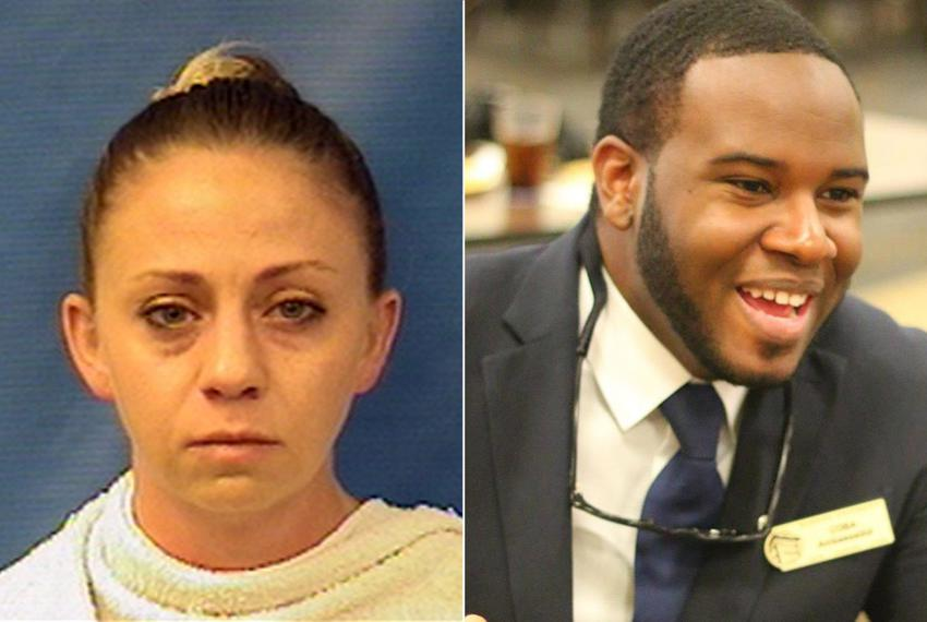 Dallas police officer Amber Guyger, left, shot and killed Botham Shem Jean in his apartment.
