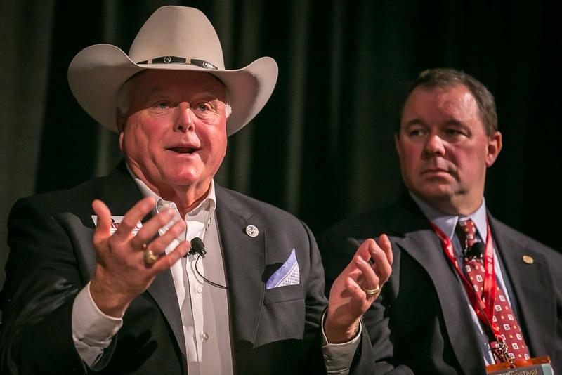 Sid Miller speaks at The Texas Tribune Festival on Sept. 20, 2014.