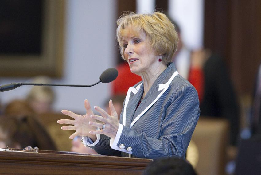 State Rep. Debbie Riddle, R-Houston, speaks in favor of Amendment #5 to SB4 the congressional redistricting bill that woul...