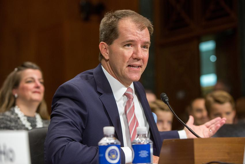 Texas Supreme Court Justice Don R. Willett testifies during a U.S. Senate Judiciary Committee hearing to confirm him and D...