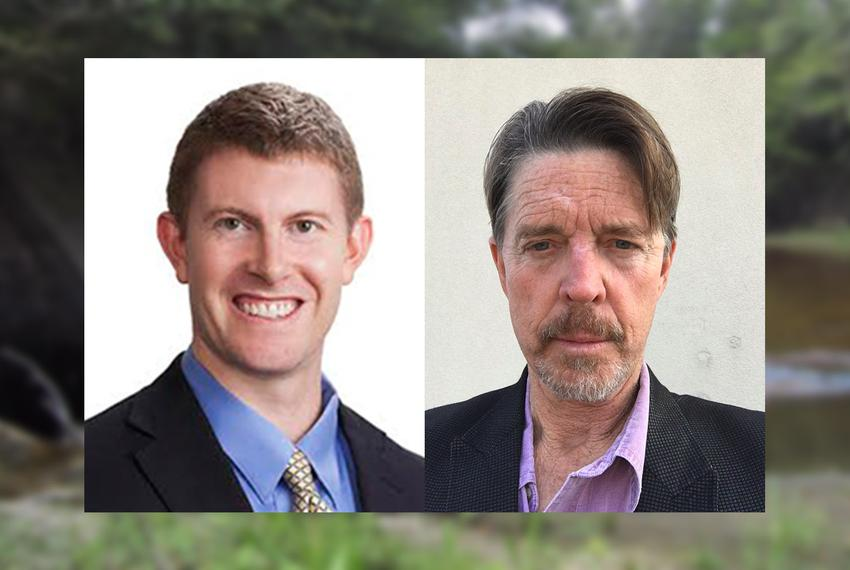 Gabe Collins (l.) and Hilmar Blumberg are co-authors to an article about an alternative form of groundwater management by lo…