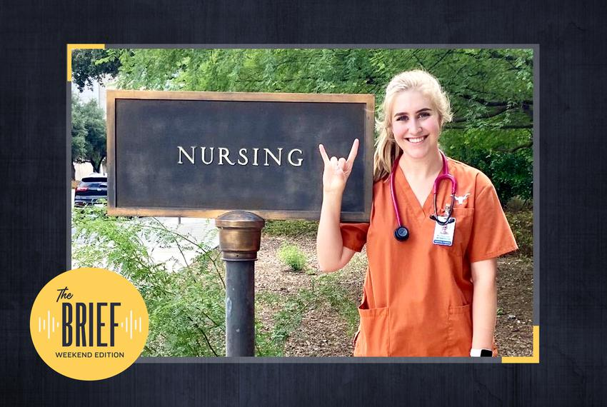 Mary Grace Scales, a second-year nursing student at The University of Texas at Austin, captured her first day back on campus…