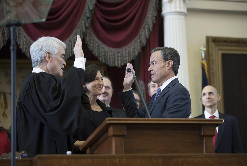 State Rep. Joe Straus, R-San Antonio, is sworn in as speaker of the Texas House on opening day of the 85th Legislature on Ja…