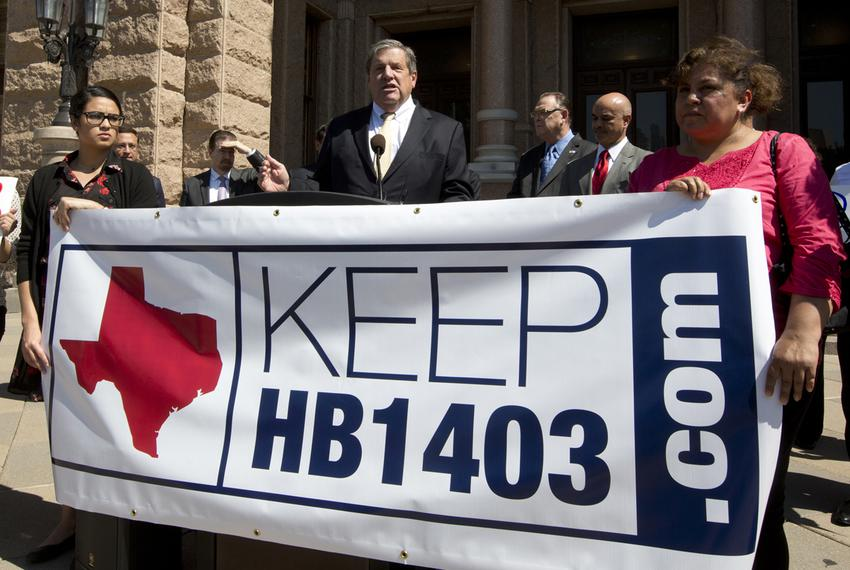 Texas Association of Business CEO Bill Hammond, speaks in favor of HB 1403 which was passed in 2001 and grants all Texans ...