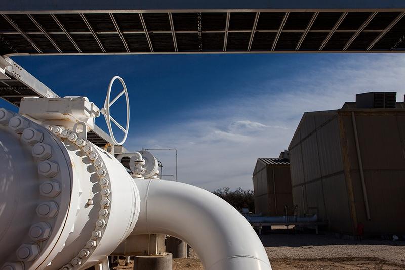 A natural gas compressor station located near La Grange, Texas, on Jan. 29, 2014.