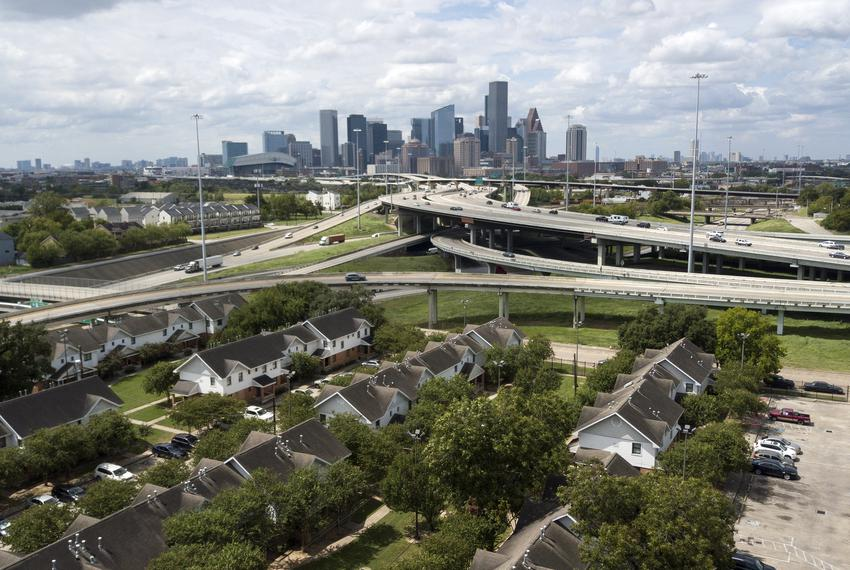 An aerial view of the Kelly Village housing complex in Houston on Sept. 16, 2019.