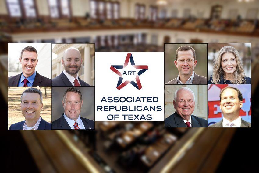Top row, left to right: Republican runoff candidates Thomas McNutt and Cody Harris, HD-8; Ben Leman and Jill Wolfskill, HD-13. Bottom row, left to right: Brad Buckley and Scott Cosper, HD-54; Steve Allison and Matt Beebe, HD-121.