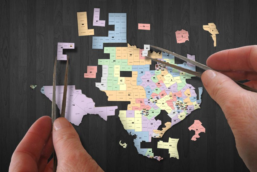 Analysis A Texas Legislative Battle Map Federal Courts - Texas map puzzle