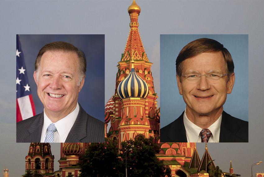 U.S. Reps.Randy Weber, R-Friendswood, left,and Lamar Smith, R-San Antonio.