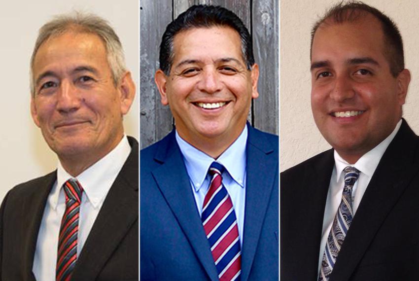 (L.-R.) State Reps. Gilbert Peña, R-Pasadena, John Lujan, R-San Antonio and Rick Galindo, R-San Antonio.