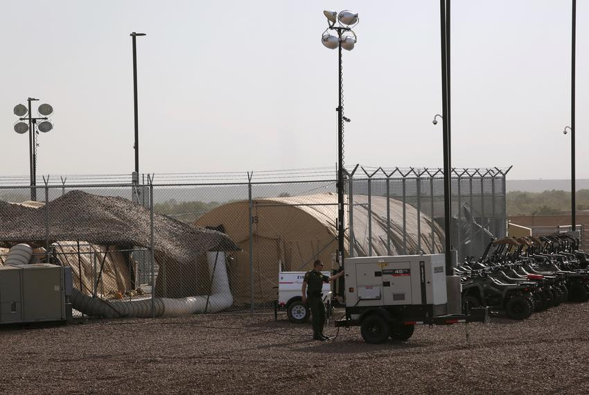 The U.S. Customs and Border Protection's station facilities in Clint on June 25, 2019. REUTERS/Jose Luis Gonzalez