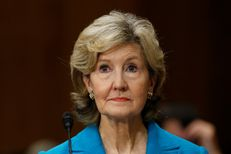 U.S. President Donald Trump's nominee for ambassador to NATO Kay Bailey Hutchison testifies at the Senate Foreign Relations Committee hearing on her nomination on Capitol Hill in Washington, U.S. July 20, 2017.
