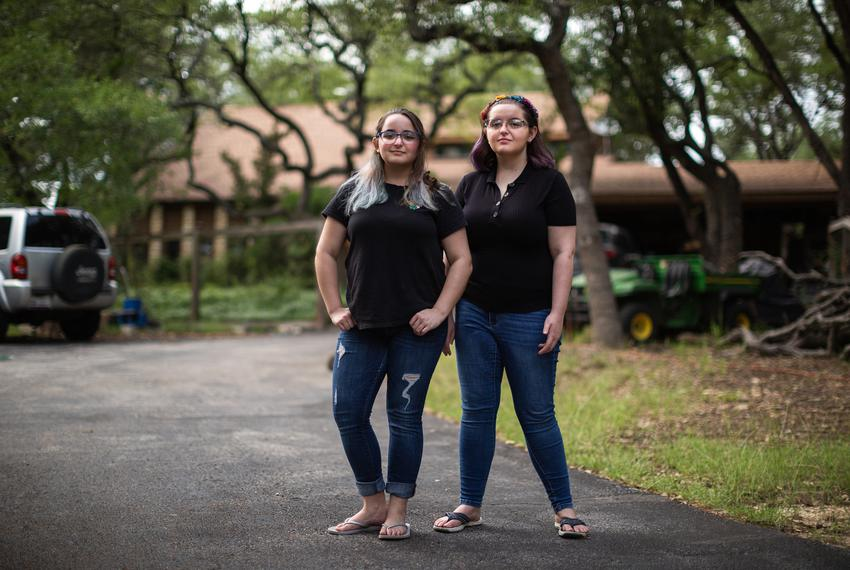 Rising sophomores Macy Waldman, left, an Integrative Studies major at the University of North Texas and her sister, Barry ...