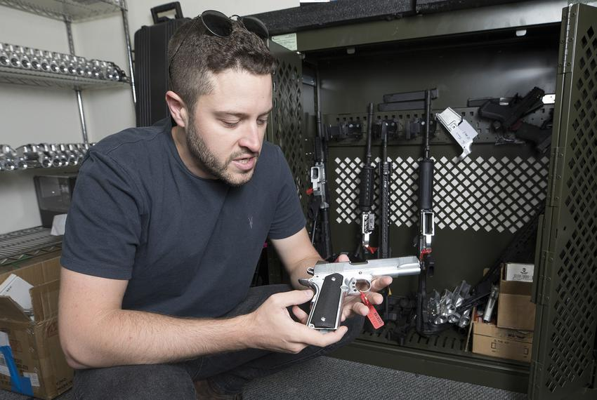 Cody Wilson, gun rights activist and founder of Defense Distributed, a Texas-based company developing and publishing open ...