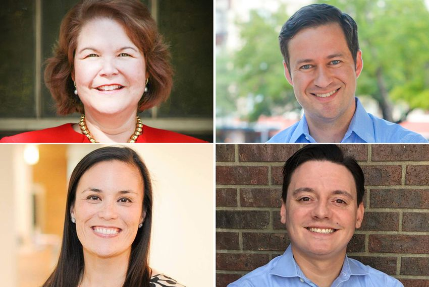 Clockwise from top left, four Democratic candidates vying for U.S. Congressional District 23: Judy Canales, Jay Hulings, Rick Treviño and Gina Ortiz Jones.