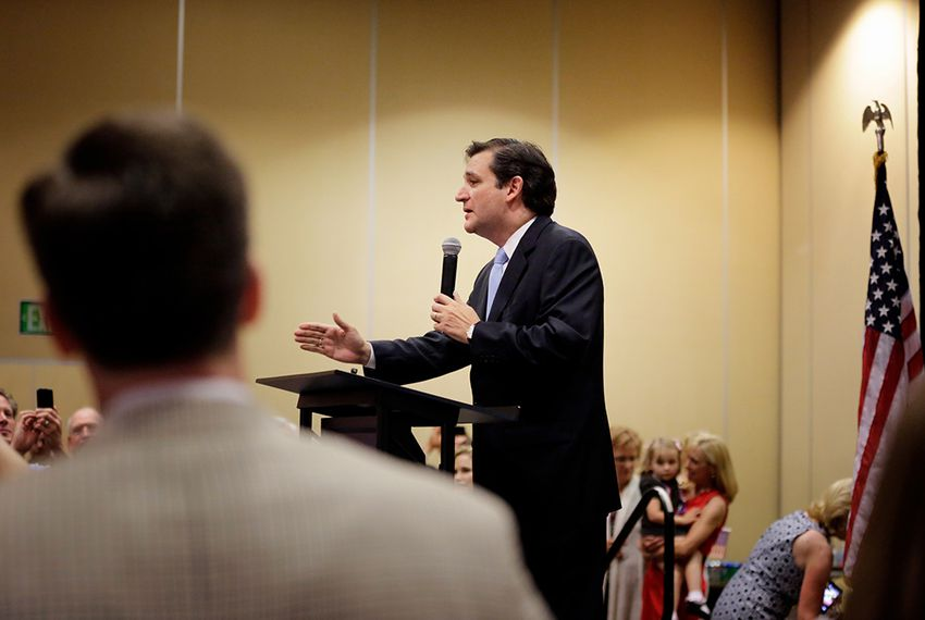 Ted Cruz at the JW Marriott hotel in Houston on May 29, 2012.