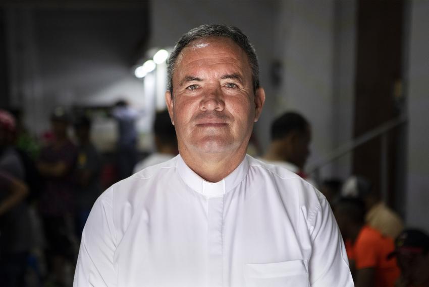 Father Felipe de Jes˙s S·nchez oversees Casa INDI, a shelter in Monterrey, Nuevo Leon. Aug. 5, 2019.