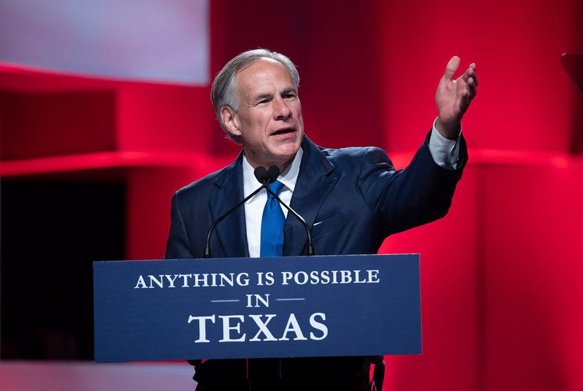 Gov. Greg Abbott gives the keynote Friday speech at the Republican Party of Texas convention in San Antonio on June 15, 2018.