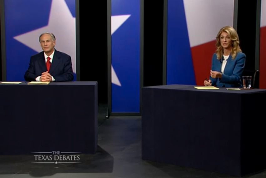 The second and final gubernatorial debate between Republican Attorney General Greg Abbott and state Sen. Wendy Davis, D-Fort Worth, was held in Dallas on Sept. 30.