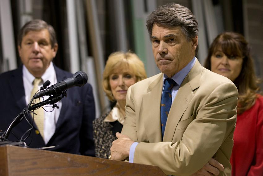 Nov 13, 2012 - Texas Gov. Rick Perry and Lt. Gov. David Dewhurst hold a press conference on proposed legislation regarding...