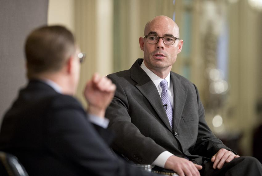 Rep. Dennis Bonnen, R-Angleton, talks about his role in the Texas House on May 13, 2015.