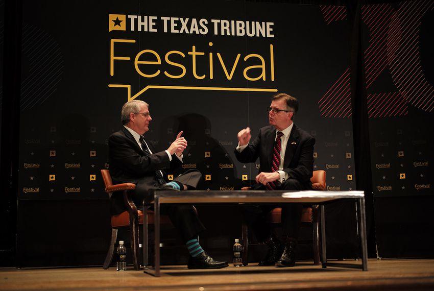 Ross Ramsey, executive editor of The Texas Tribune, interviewed Lt. Gov. Dan Patrick at The Texas Tribune Festival on Sept. 24, 2016.