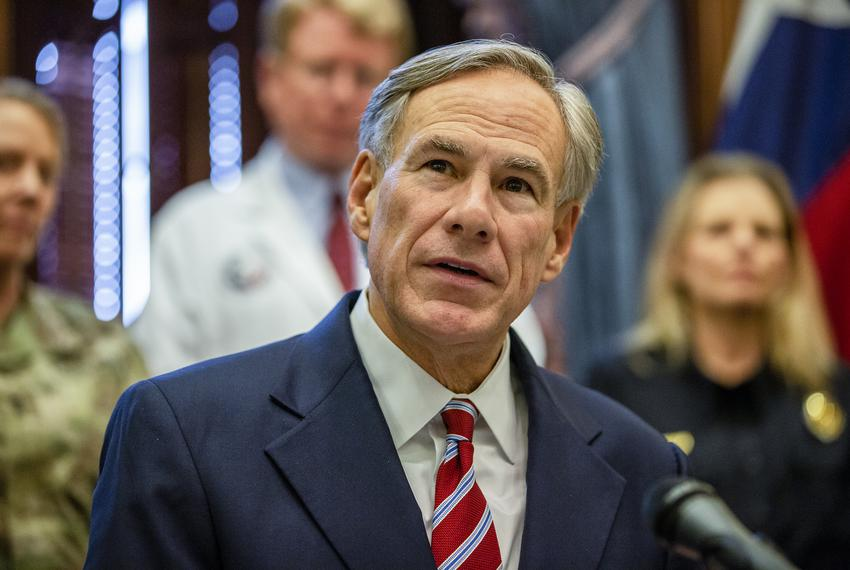Gov. Greg Abbott declares a statewide emergency amid new cases of COVID-19 in the state on March 13, 2020 at the state cap...
