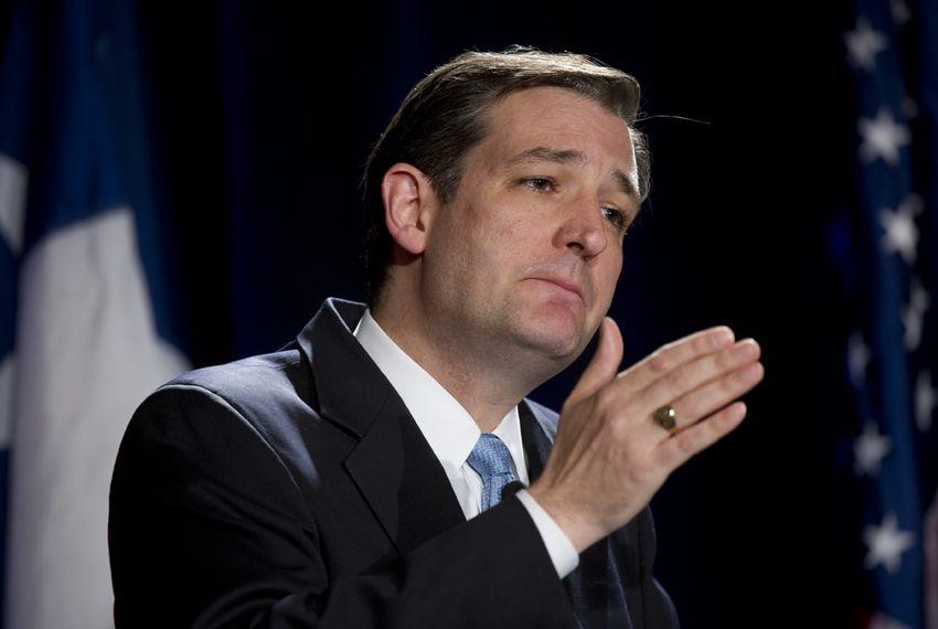 Ted Cruz at a U.S. Senate candidate debate on Jan. 12, 2012, in Austin.