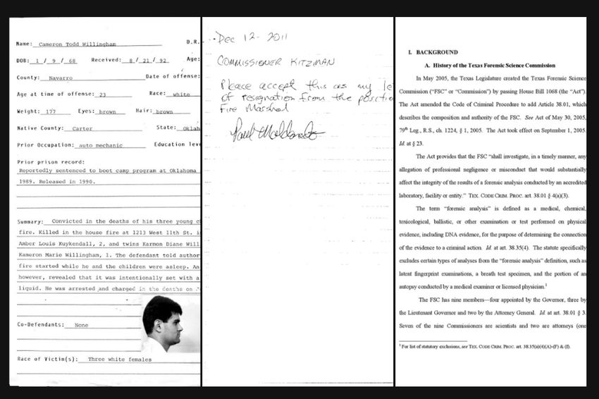 Cameron Todd Willingham was executed on Feb. 17, 2004.
