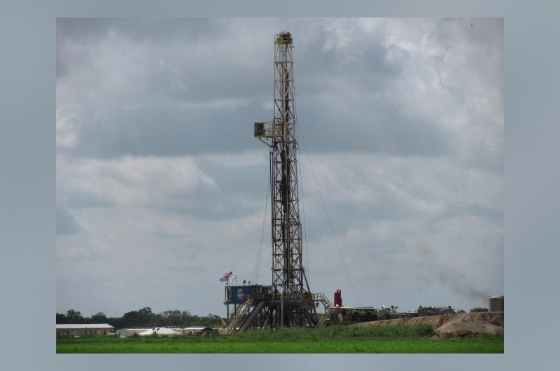 Drilling rig in DeWitt County
