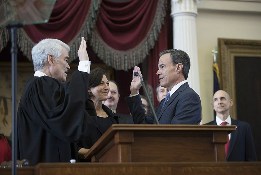 State Rep. Joe Straus, R-San Antonio, is sworn in as speaker of the Texas House on opening day of the 85th Legislature on January 10, 2017.
