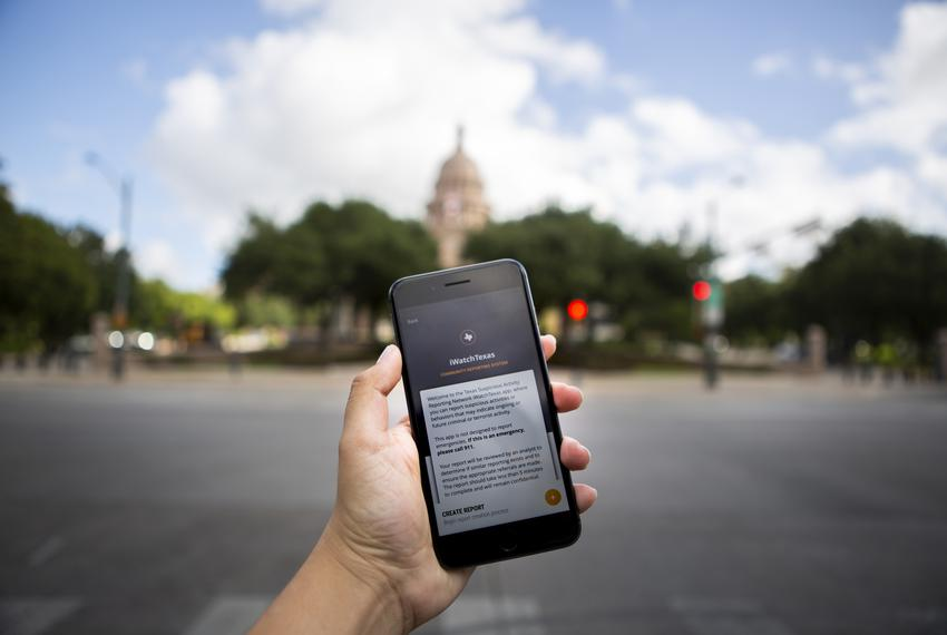 The iWatchTexas application was released in 2018 to help report suspicious activity in school and communities.