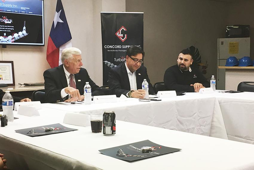 U.S. House Minority Whip Steny Hoyer (left) campaigns Thursday in San Antonio with Democratic congressional candidate Pete G…