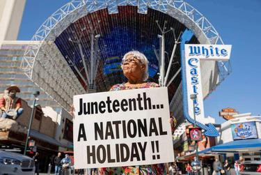 Opal Lee in February during the Las Vegas leg of her walk from her Fort Worth home to Washington, D.C. The months-long walk was an effort to get Juneteenth named a national holiday.
