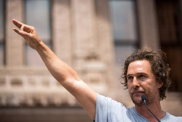 Matthew McConaughey spoke at the March For Our Lives rally in Austin in 2018.