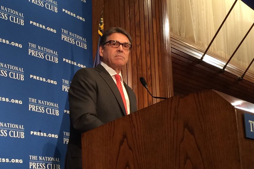 Former Texas Gov. Rick Perry speaking at the National Press Club in Washington, D.C. on July 2, 2015.