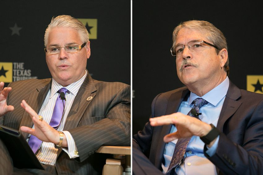 State Rep. Dan Huberty (left), R-Houston, and state Sen. Larry Taylor, R-Friendswood.