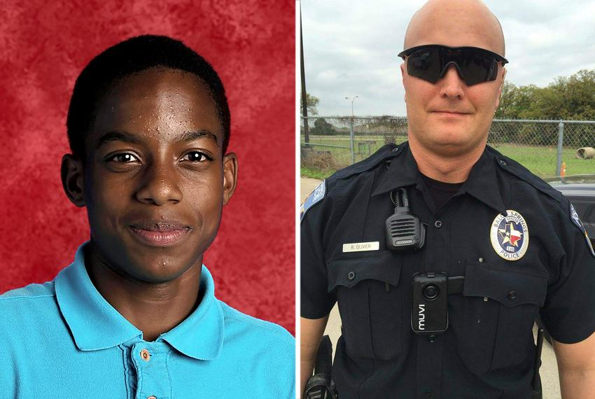 15-year-old Mesquite High School freshman Jordan Edwards (left) was shot and killed by Balch Springs police officer Roy Ol...