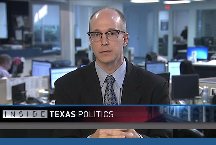 "Texas Tribune political reporter Jay Root on WFAA-TV's ""Inside Texas Politics"" on Nov. 23, 2014."