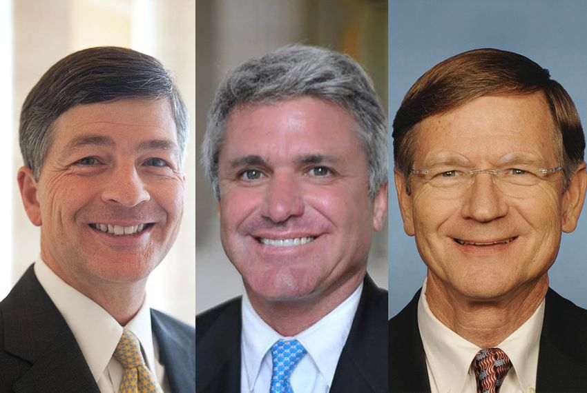 Left to right: Republican U.S. Reps. Jeb Hensarling of Dallas, Michael McCaul of Austin and Lamar Smith of Austin.